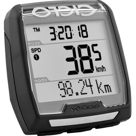 Ciclosport CM 4.41 A fietscomputer met hoogte- en hartslagmeterfrequentie zwart
